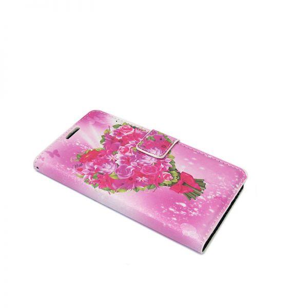 Futrola na preklop za Samsung S7560/S7562 Trend, cvetna pink