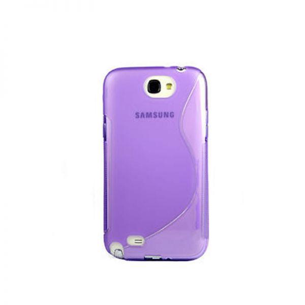 Futrola silikon Tpu S za Samsung N7100 Note 2, ljubičasta